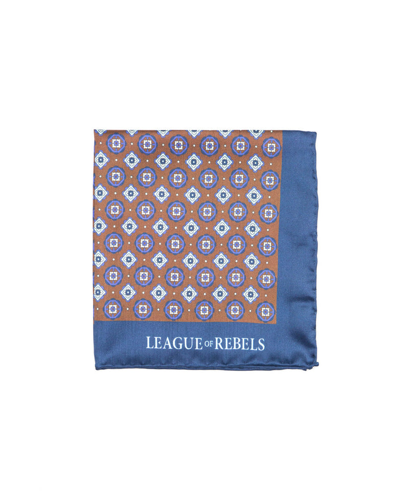 Navy Ashton Pocket Square