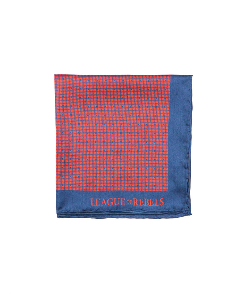 Maroon-Navy Dots Pocket Square