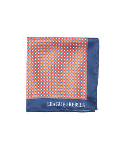 Maroon Squares Pocket Square