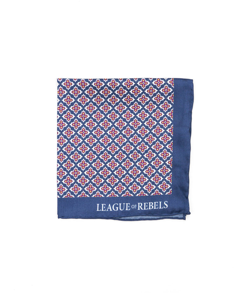 Blue Trident Pocket Square
