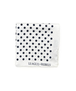 White Polka Pocket Square