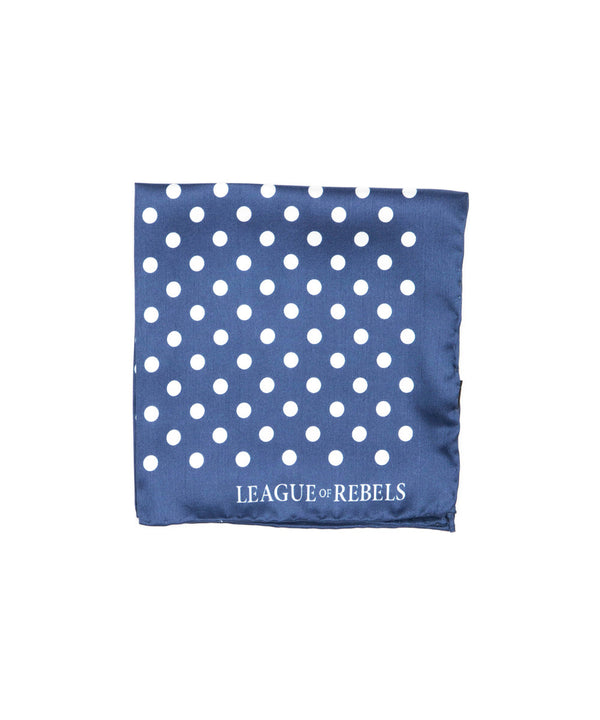 Blue Polka Pocket Square