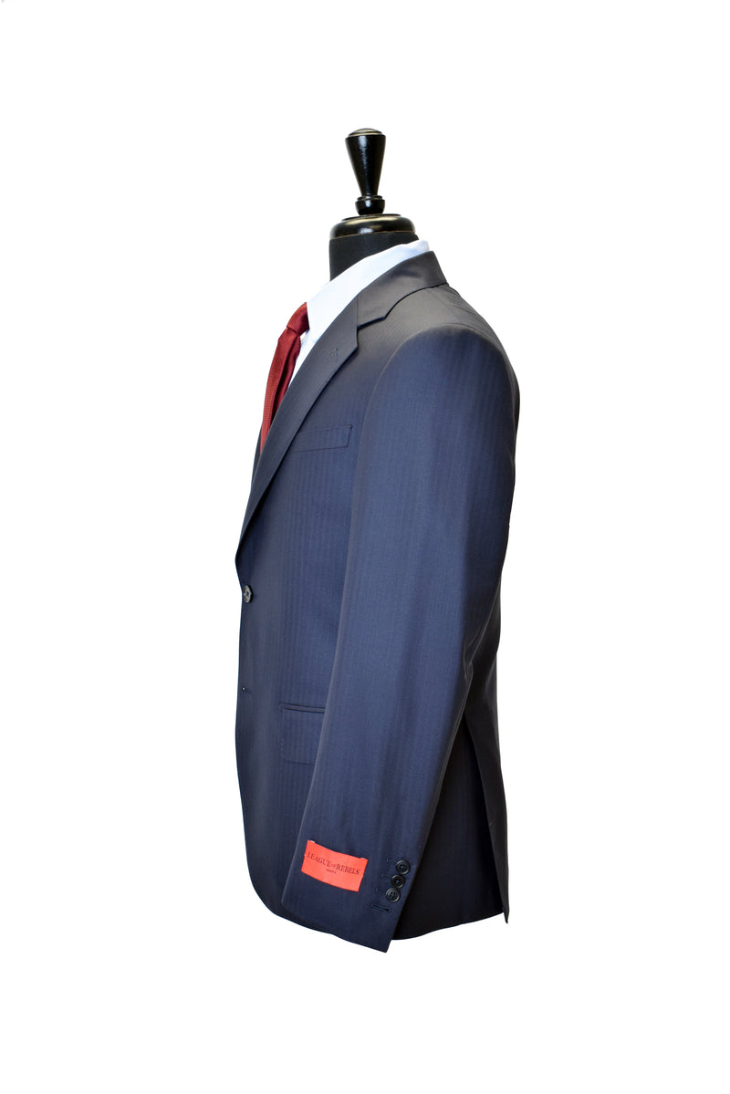 Navy HB Super 160s Suit Jacket
