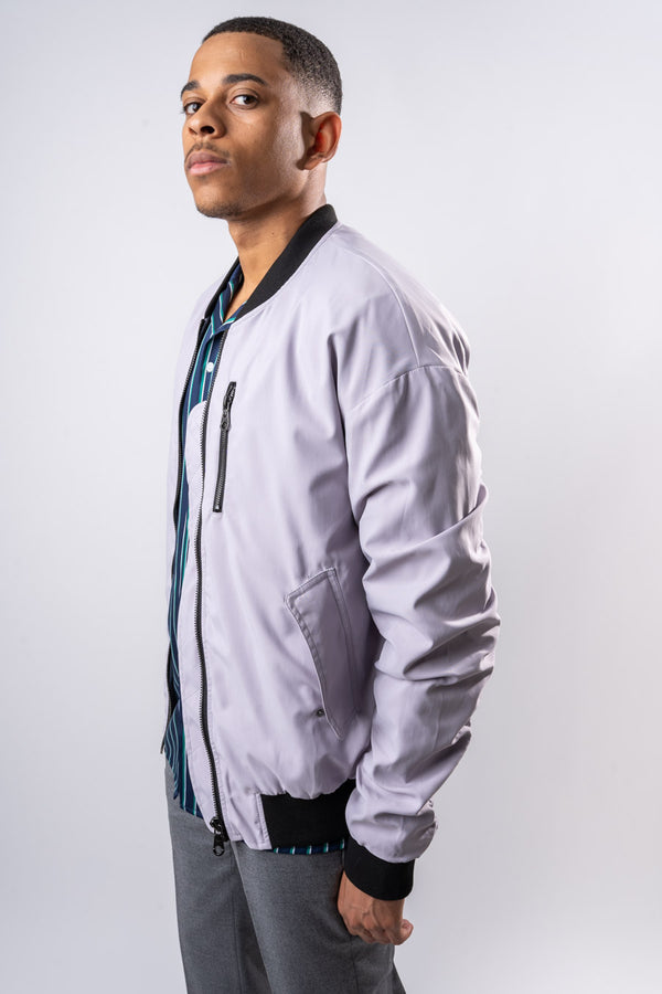 Clive Bomber Jacket - GREY