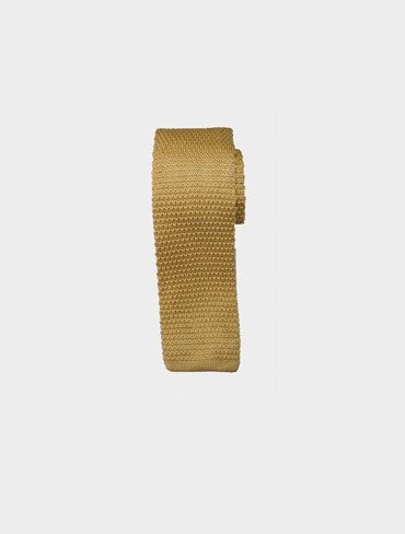 Gold Knit Tie