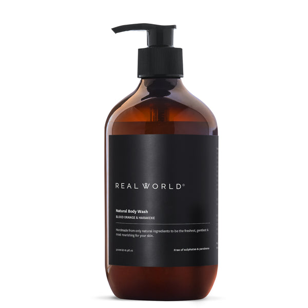 Real World Blood Orange Harakeke Body Wash (Made in Hawkes Bay, NZ)