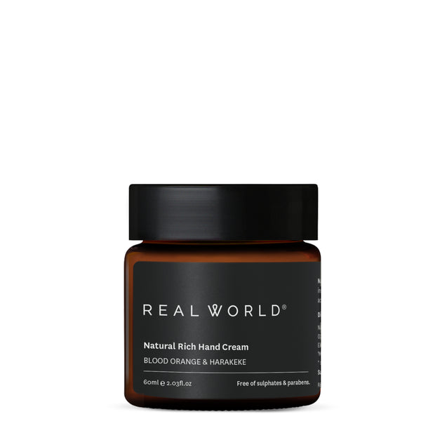 Real World Blood Orange Harakeke Hand Cream (Made in Hawkes Bay, NZ)