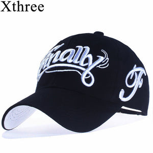 6287aa0d457  Xthree 100% cotton baseball cap women casual snapback hat for men casquette  homme Letter embroidery gorras