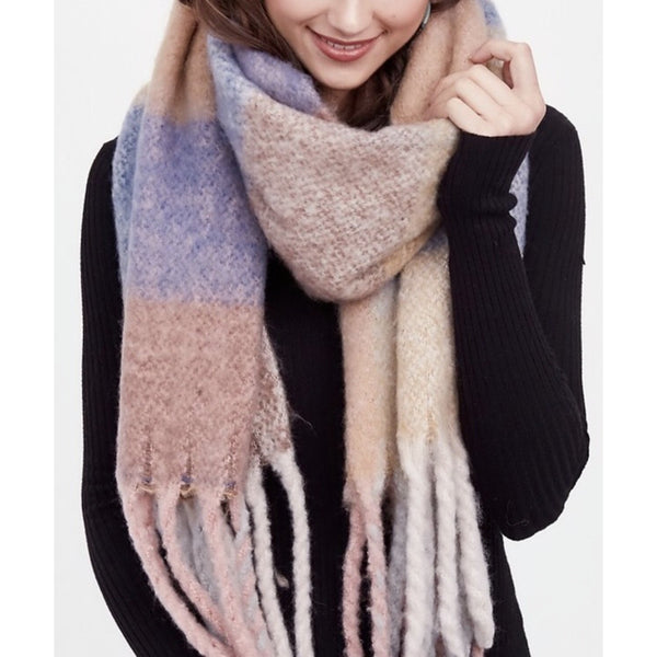 Soft Woven Scarf With Fringe