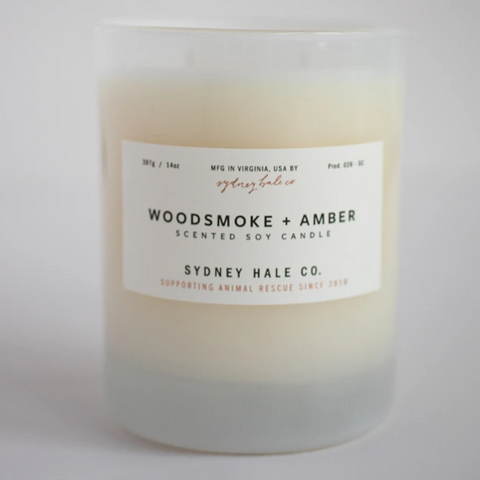 Woodsmoke + Amber Candle