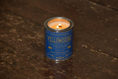 Yellowstone National Park Candle Pint