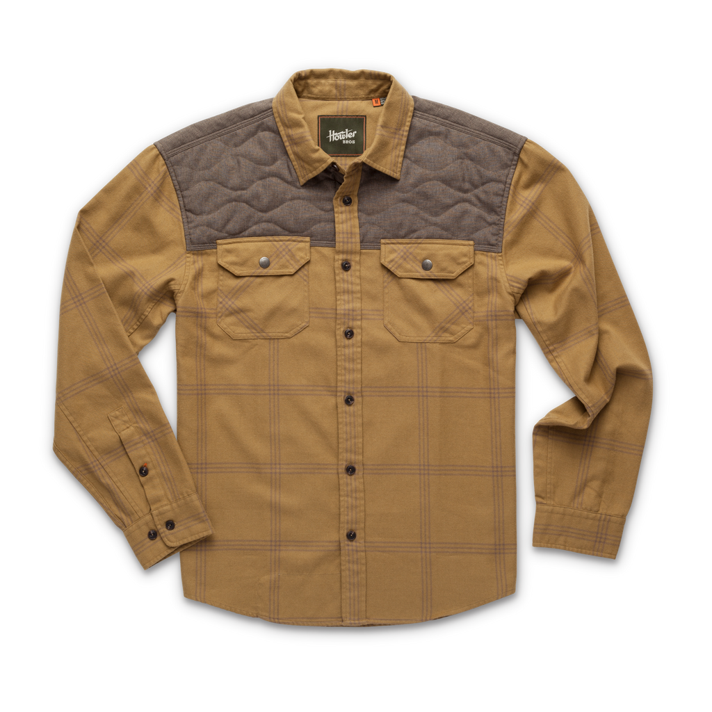 Quintana Quilted Flannel Las Cruces Plaid Officer Khaki