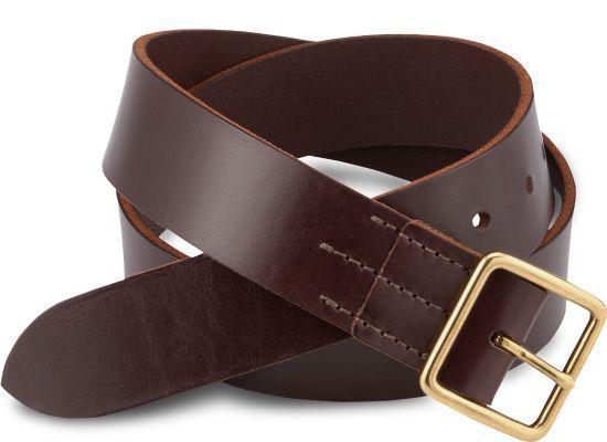 Dark Brown Vegetable Tanned Leather Belt