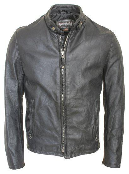 654VN Vintaged Cowhide Cafe Racer Jacket