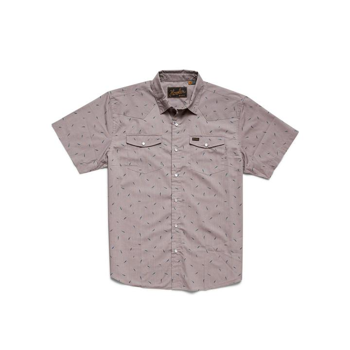 H Bar B Snapshirt Falling Feathers Print Dove Grey