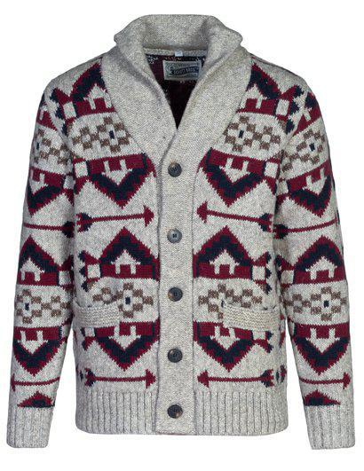Heavyweight Navajo Yak Blend Cardigan SW1948