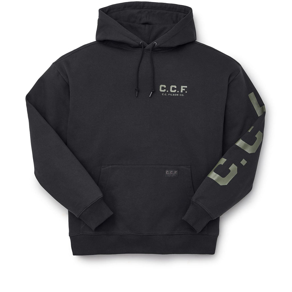 CCF Graphic Pullover Hooded Sweatshirt Black