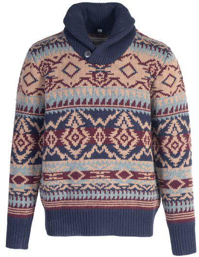 Navajo Shawl Collar Sweater SW1940 Multicolor