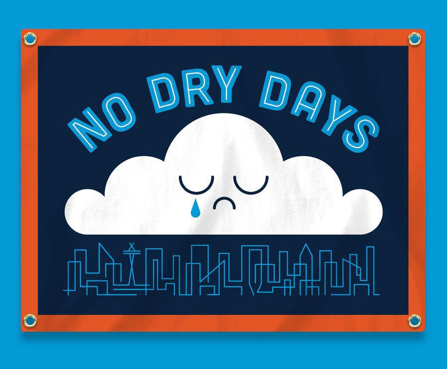 No Dry Days Camp Flag