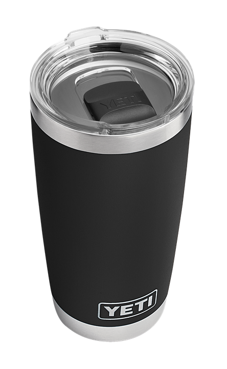 Rambler 20 oz Tumbler w/MS Lid Black