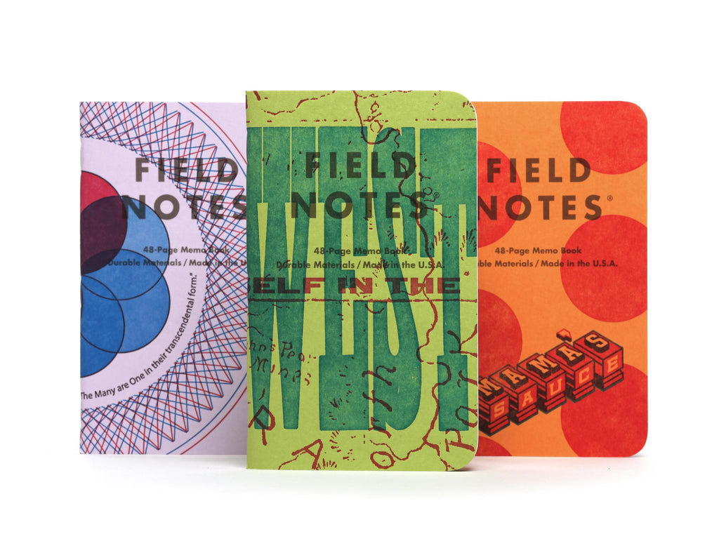 Field Notes United States of Letterpress Series A 3 Pack