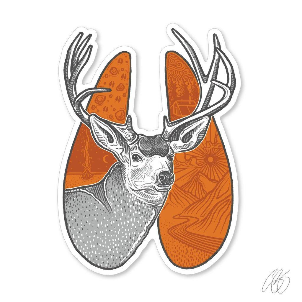 Mule Deer Track Decal