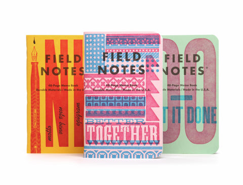 Field Notes United States of Letterpress Series B 3 Pack
