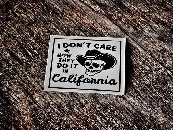 Dont Care Sticker White