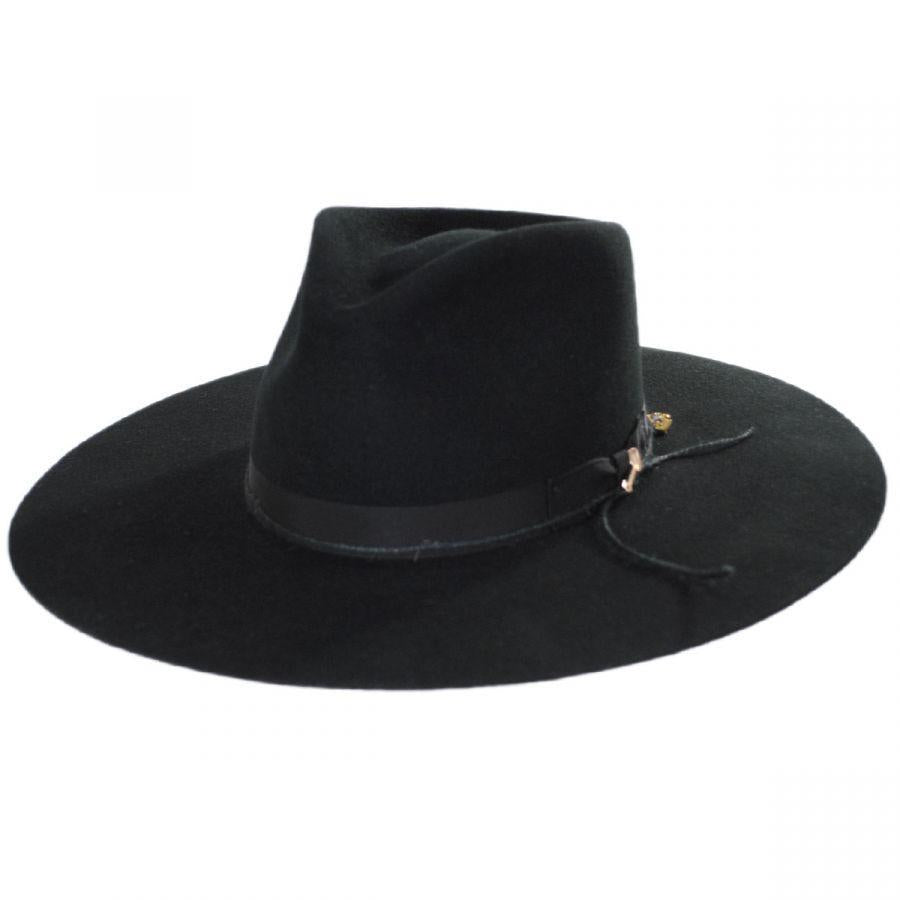 JW Marshall Wool Felt Hat Black