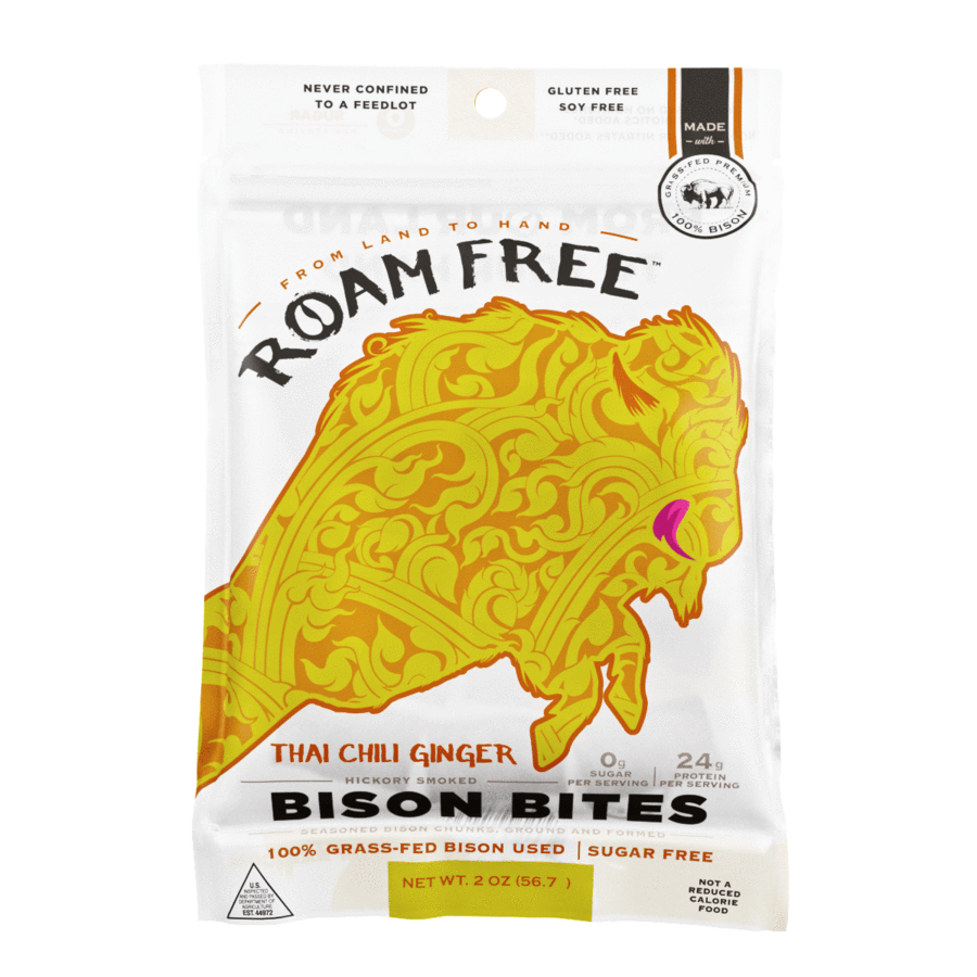 Roam Free Thai Chili Ginger Bison Bites