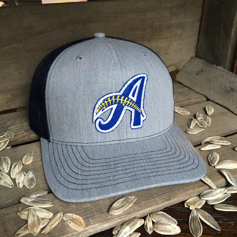 Minor League Signature A Feather Hat Grey