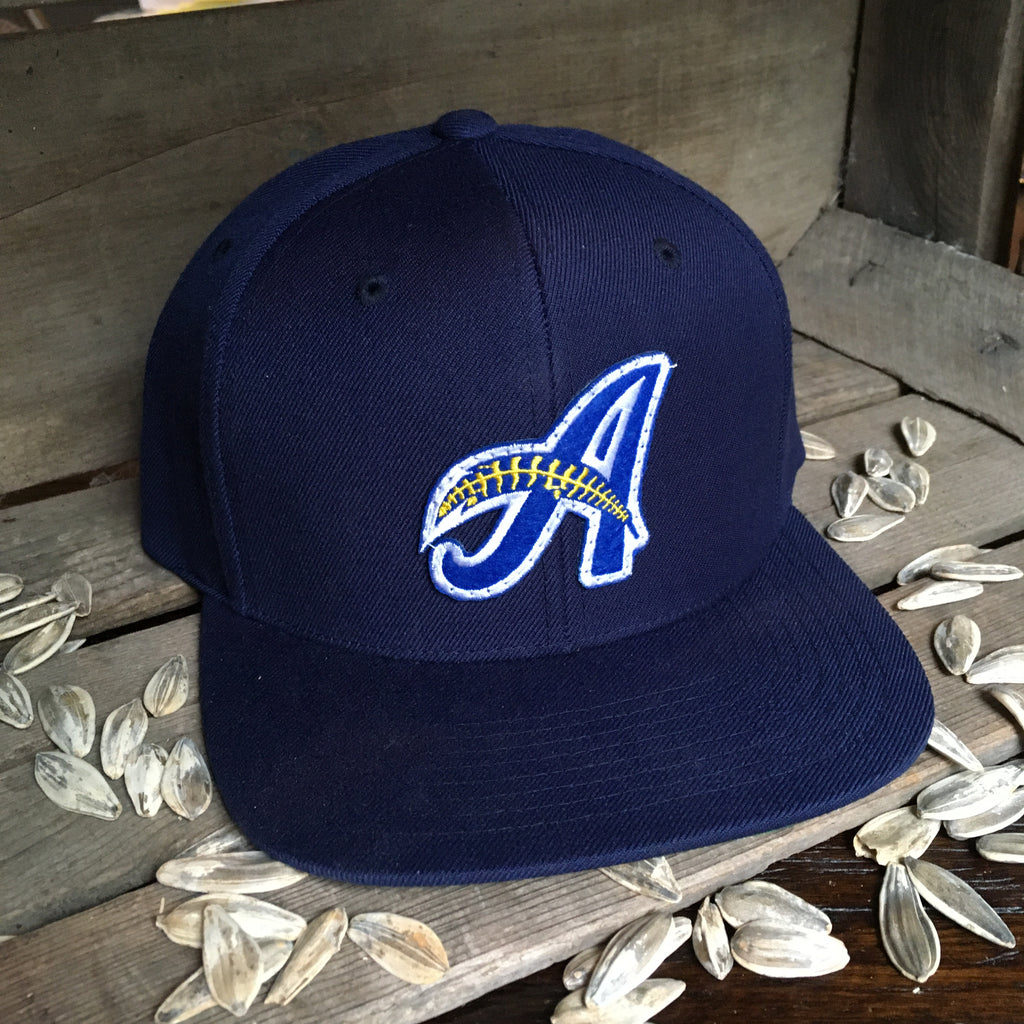 Minor League Signature A Feather Hat Navy