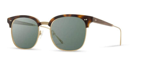 Foster Acetate Sunglasses Brindle/Matte Gold/Walnut/G15