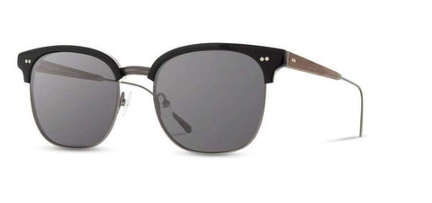 Foster Acetate Sunglasses Black/Gun Metal/Walnut/Grey
