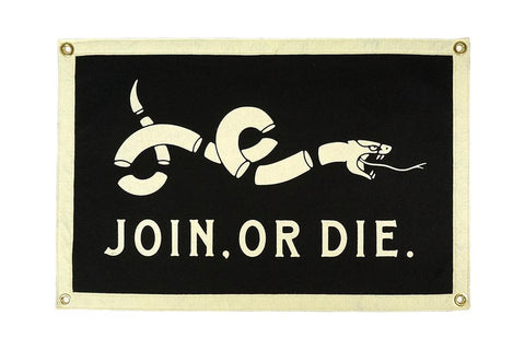 Join or Die Camp Flag