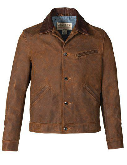 538 Nubuck Cowhide Mechanic's Jacket Brown