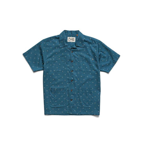 Sunset Scout Shirt Arrowhead Print Mid Blue