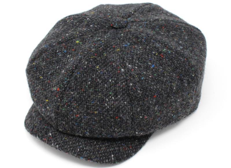 JP Cap Tweed Dark Gray Charcoal