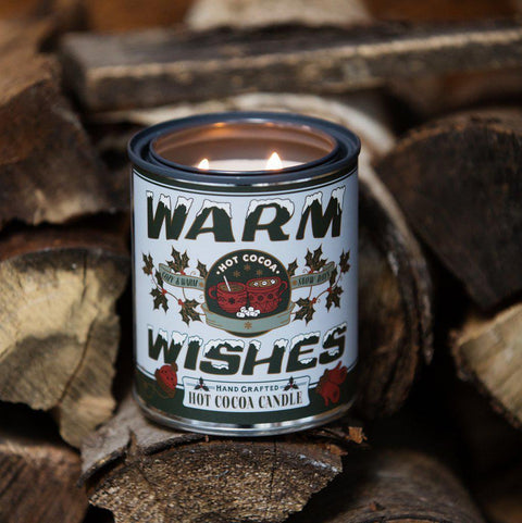 Warm Wishes Hot Cocoa Holiday Candle Pint