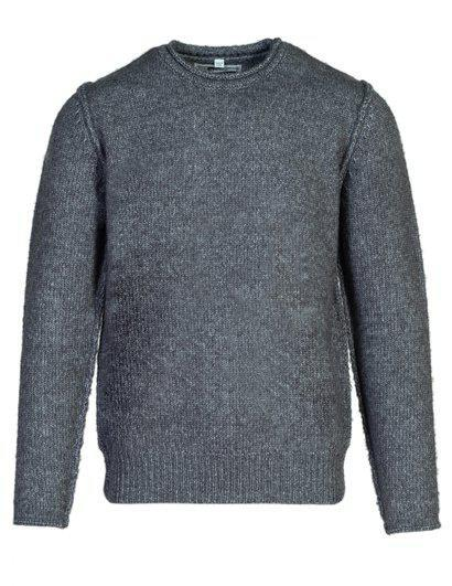 Rolled Edge Sweater Charcoal SW1932