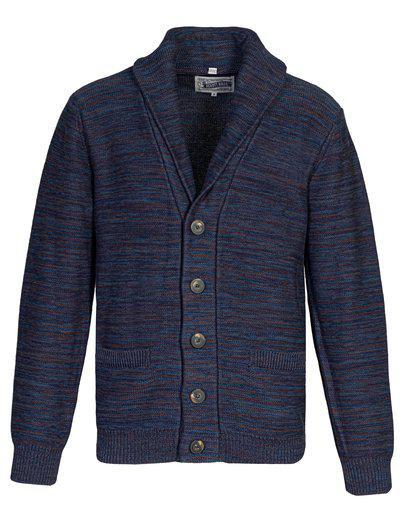 Multicolor Cotton Cardigan Navy SW1924
