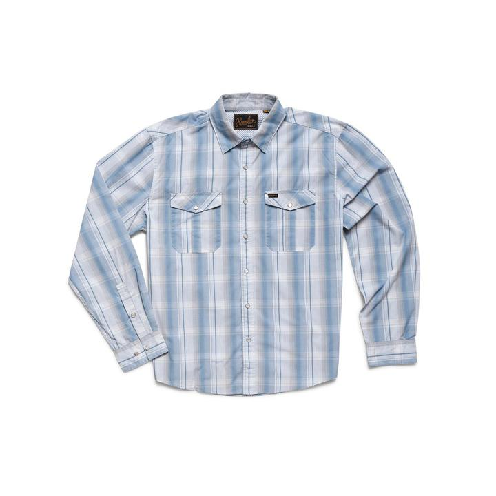 Gaucho Snapshirt Thornton Plaid Stone Blue