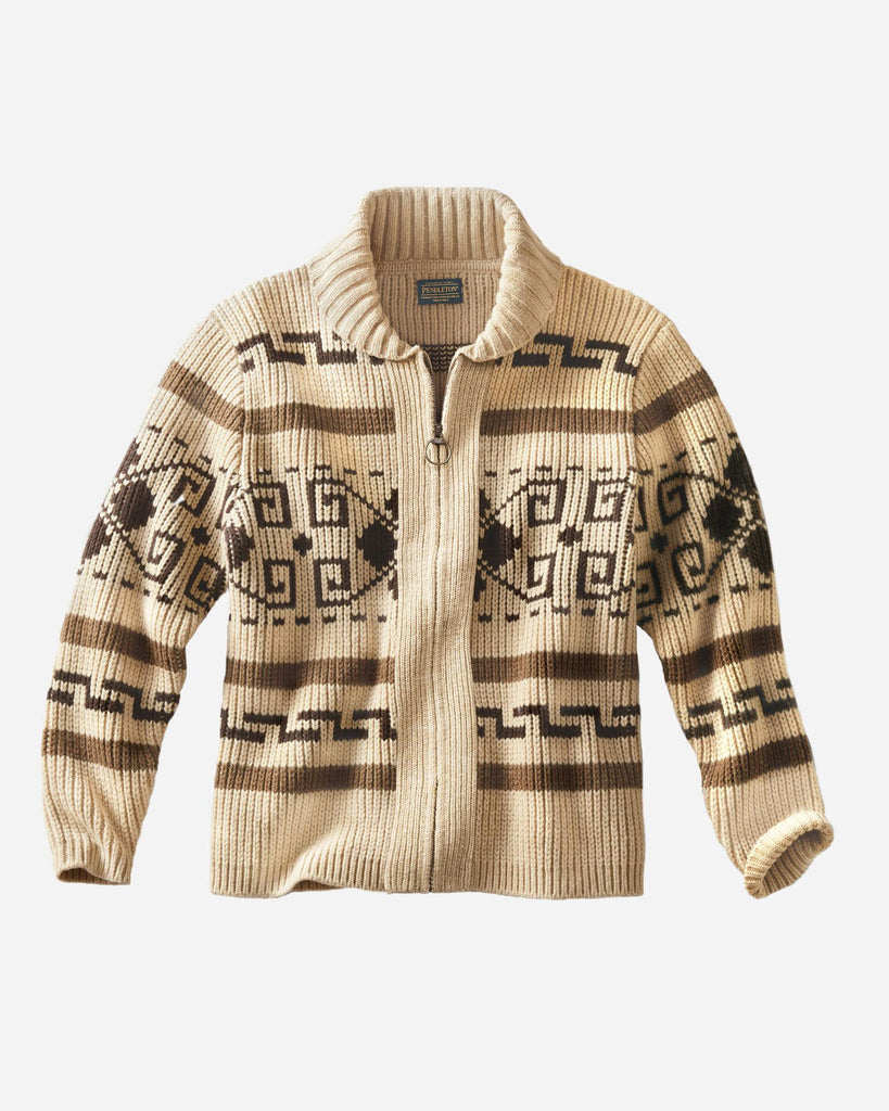 The Original Westerley Zip-Up Sweater Tan Brown