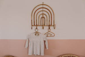 Rattan Rainbow Wall Hook