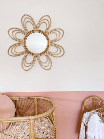 Willa Rattan Flower Mirror (PRE ORDER)