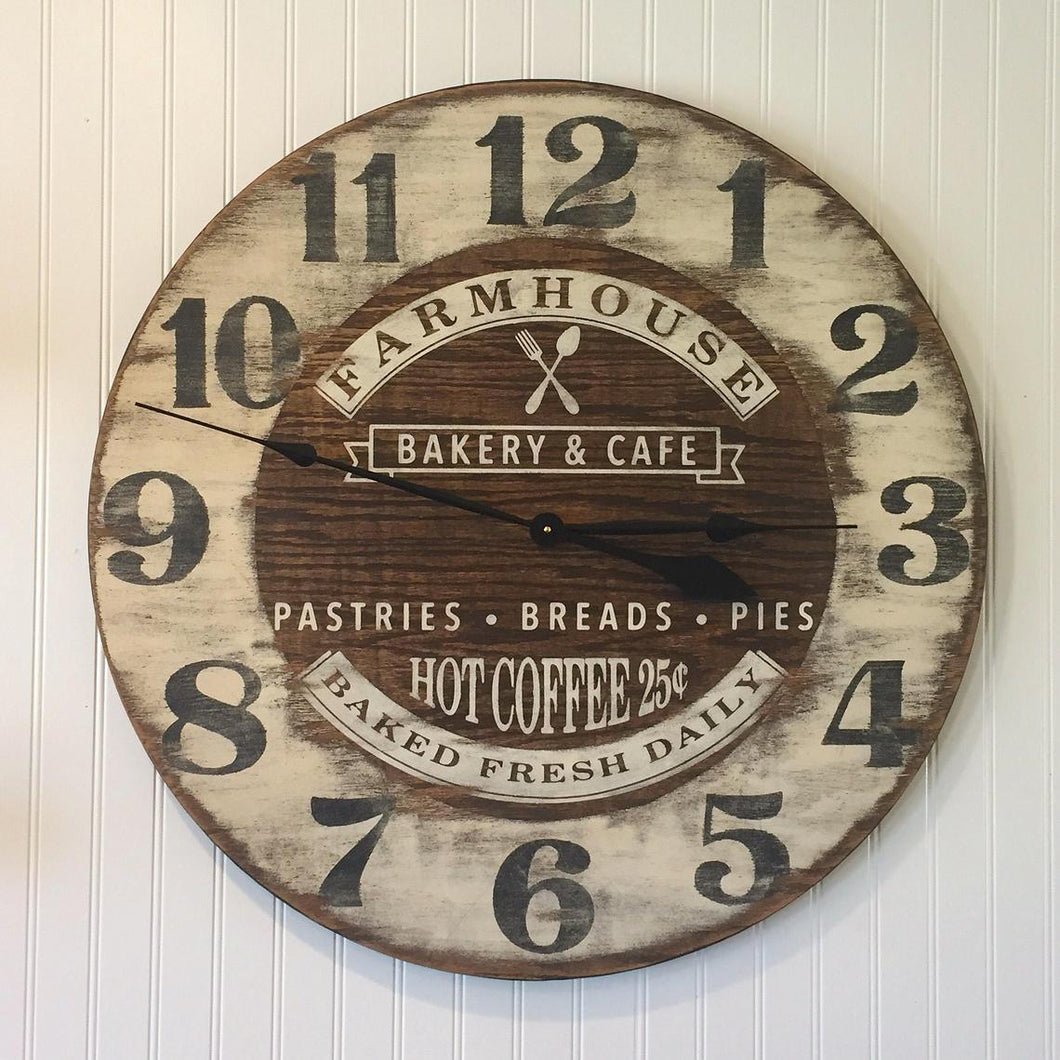 Farmhouse Oversized Bakery Wall Clock 36