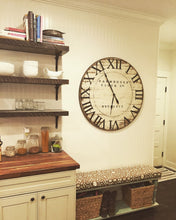 "Load image into Gallery viewer, Oversized Farmhouse Clock 48"" - The Urban Barn Shop"