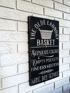 Laundry Room Sign Black - The Urban Barn Shop