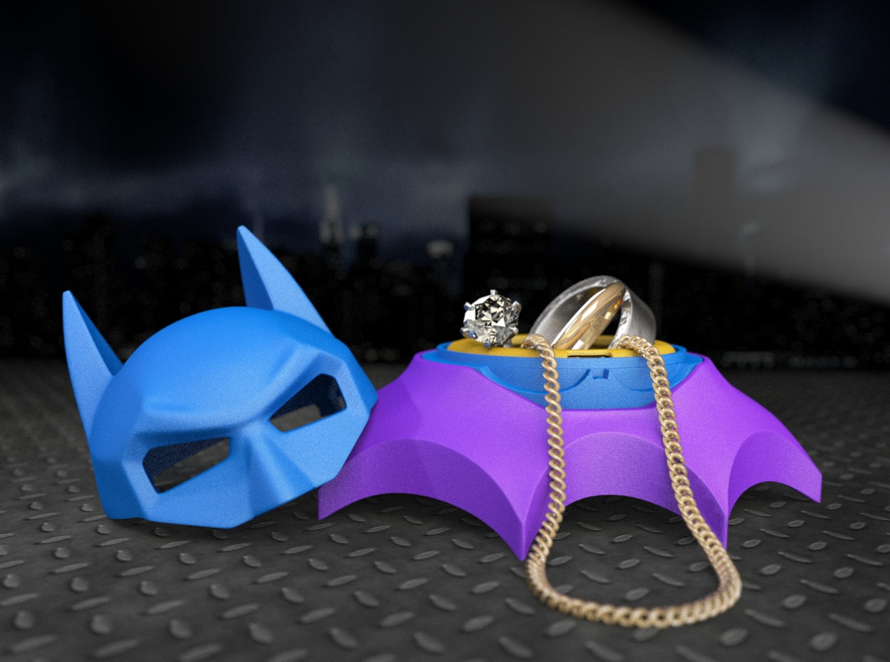 BAT STAND for the Bat Superhero Style Wedding Ring Box with Case Insert