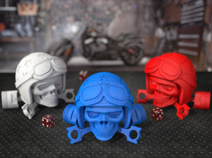 Easy Rider Motorcycle Style Skull Ring Bearer Box Color Options